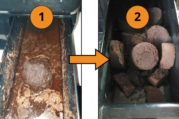 How to ensure firm pucks in dreg drawer